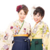 portrait of japanese traditonal women on white background