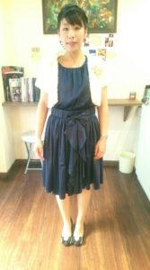 写真:ヘアセットとドレス