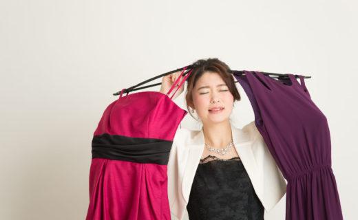 写真:女性とドレス